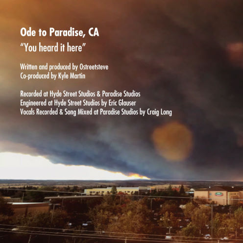 Steve Burke, song titled, Ode to Paradise, CA - You Heard It Here