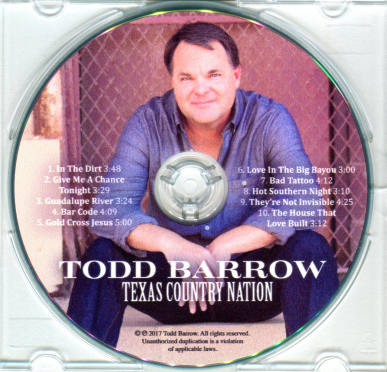 Todd Barrow, CD titled, Texas Country Nation