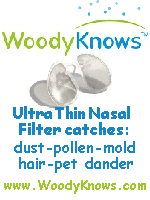 WoodyKnows.com Ultra Thin Nasal Filter Catches for Dust-polen-mold-hair-pet dander