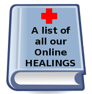 A list of Onine Healings with Ron Amitrol of the Creation Lightship