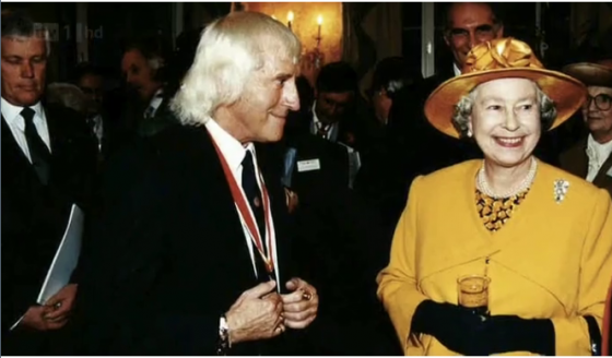Child Killer Jimmy Saville and Elizabeth Windsor