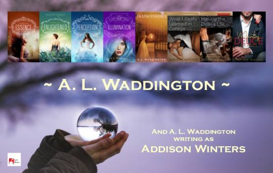 A L Waddington, Author of The EVE and Spirit Quest Series