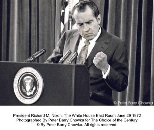 1972 Richard Nixon by Peter Barry Chowka
