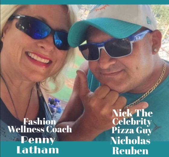"Penny Latham, Fashion, Wellness Coach, Magazine Publisher, Non-Profit Advocate & Her S.O. ""Nick Rueben The Celebrity Pizza Guy"" Subject Matter : Hollywood Scams"