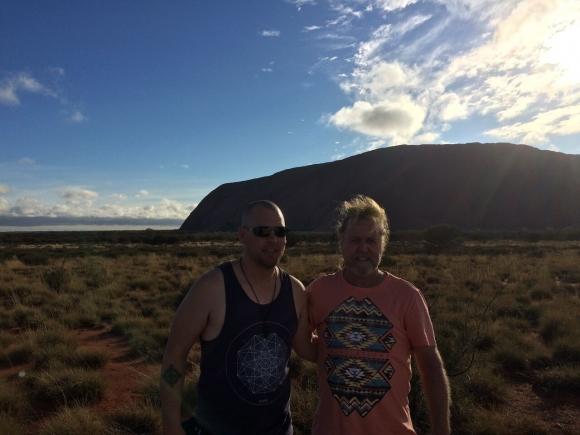 Peter and James at Uluru