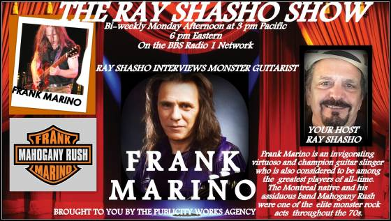 Legendary guitarist Frank Marino on The Ray Shasho Show