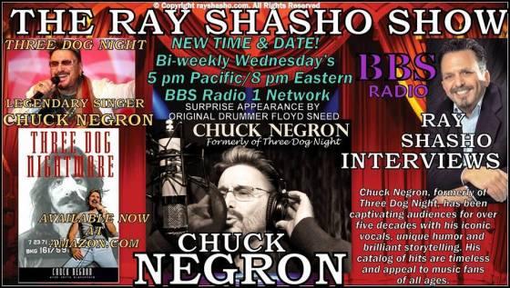 Ray Shasho Welcomes Three Dog Night Legend Chuck Negron