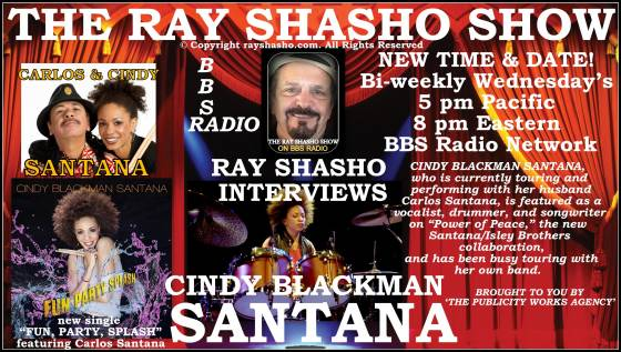 Drummer Cindy Blackman Santana on The Ray Shasho Show