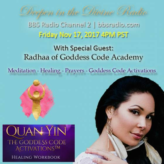 Deepen in the Divine Radio with guest Radhaa Nilia