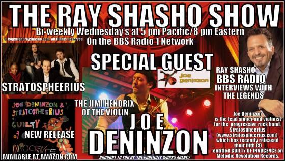 Joe Deninzon of 'Stratospheerius' visits The Ray Shasho Show