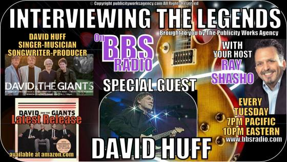 Interviewing The Legends welcomes David Huff legendary Christian Rocker with David and the Giants