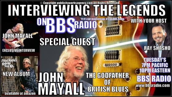 John Mayall British Blues Legend special guest on Interviewing the Legends