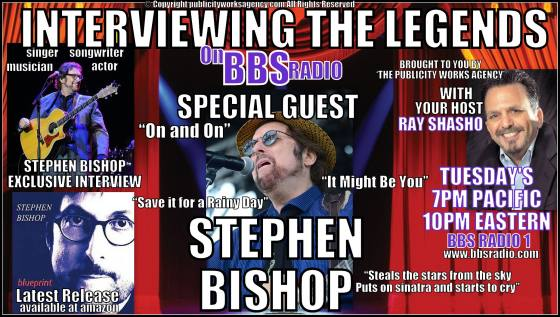 Interviewing the Legends Welcomes the Incomparable Stephen Bishop