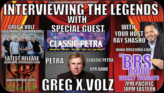 Interviewing The Legends welcomes legendary Christian Rocker Greg X. Volz