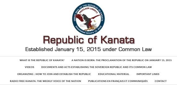 Republic of Kanata logo and information