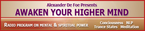 Awaken Your Higher Mind with Alexander De Foe, banner