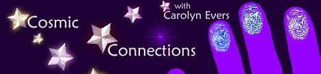 Cosmic Connections with Carolyn Evers, banner