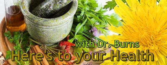 Here's to your Health with Dr. Burns & special co-host Elsa, banner