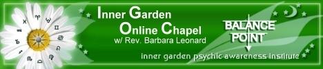 Inner Garden Online Chapel with Reverand Barbara Leonard, banner