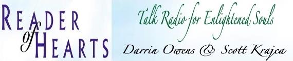 Reader of Hearts Radio with Darrin W. Owens and Scott Krajca, banner