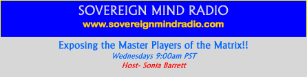 Sovereign Mind Radio with Sonia Barrett, banner