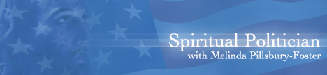 Spiritual Politician with Melinda Pillsbury-Foster, banner