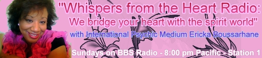 Whispers from the Heart Radio with Ericka Boussarhane, banner