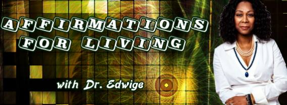 Affirmations For Living with Dr Edwige Bingue, banner