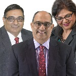 Harry Nathoo, Raj Nathoo and Rita Morar