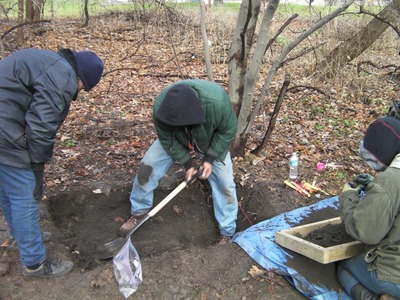 Children's bones are recovered and identified at former Mohawk residential school, Brantford, October 2011 by the ITCCS