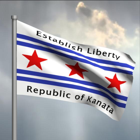 Reclaiming Canada. The Republic of Kanata raises its flag