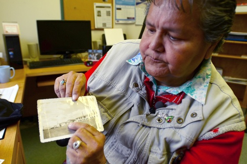 Joan Morris, survivor of sterilizations and medical experiments at the United Church's Nanaimo Indian Hospital, 2012