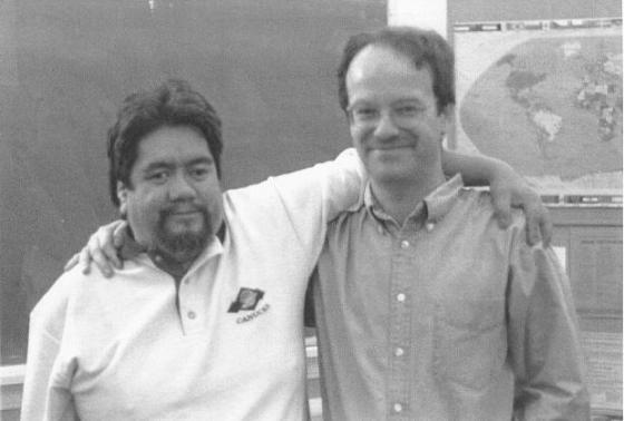 ​The author (right) and Canadian Genocide survivor Harry Wilson, 1997​