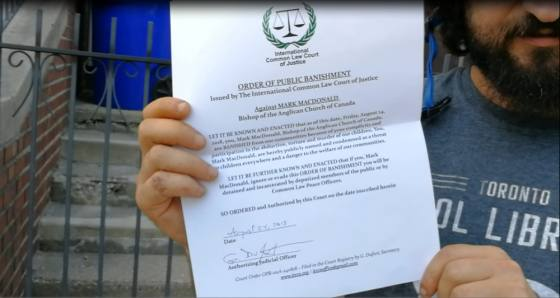 Ninth Circle cult leader Mark MacDonald is issued Public Banning Order, Toronto, August 24