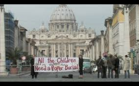 Kevin Annett and others protest at the Vatican, 2013