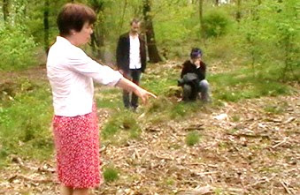 Ninth Circle cult survivor Toos Neijenhuis identifies mass grave of children killed by the cult  Zwolle, Holland, spring 2014