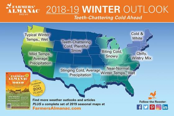 USA Winter Weather Map
