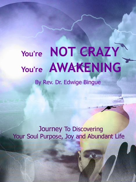 "You're Not Crazy You're Awakening, by Rev. Dr. Edwige Bingue, a.k.a. ""Edwige"", host of, Affirmations For Living"