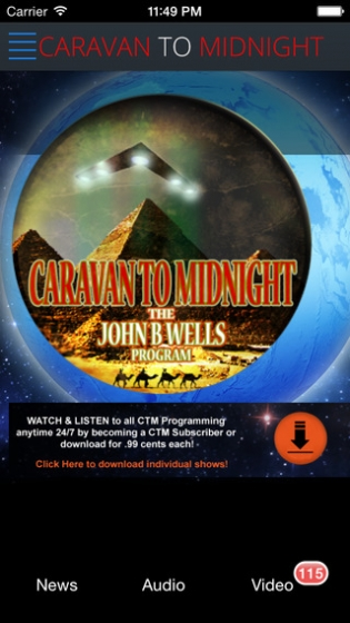 Caravan to Midnight iTunes app