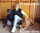 Susan Sims, Talk Show Host, Magazine Publisher, CEO, Writer, Traveler, Dog Enthusiast and Dog Expert