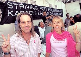Medea Benjamin and Tighe Barry, Peace Activists, CODEPINK, International Rights Organization Global Exchange