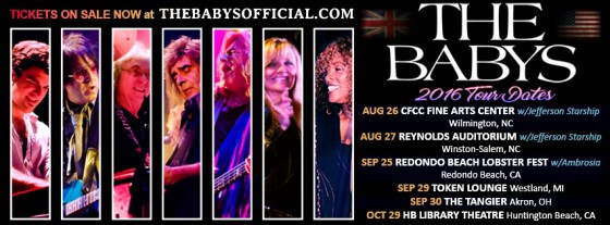 Watch for 'The Babys' on Tour!