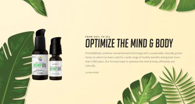 Prime My Body Hemp Oil - Optimize Mind & Body