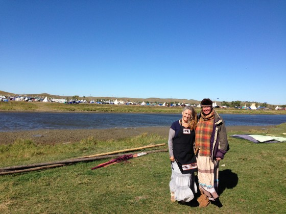 Stephanie and Marge at Standing Rock