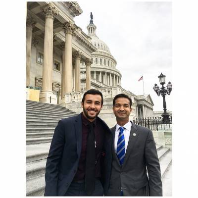 Adrian Escarate with Congressman Curbelo (R-FL)