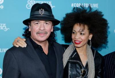 Carlos Santana with wife Cindy Blackman Santana