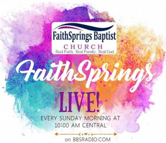 FaithSprings Baptist LIVE with Dr. Gregory Williams, Pastor Greg