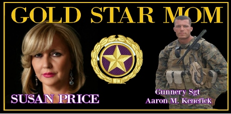 Guest, GOLD STAR MOM Susan Price, Uncovers the Criminal Military Cabal Behind the Death of Her Son, Gunnery Sgt Aaron M. Kenefick, KIA Sept 8, 2009, Ganjgal Ambush. USMC soldier betrayed by his own country under the rule of the Satanic Illuminati Order.