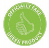 Officially Fake Green Product stamp