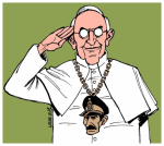 Pope Francis, Jorge Bergoglio, is disturbed late one night by an unexpected phone call